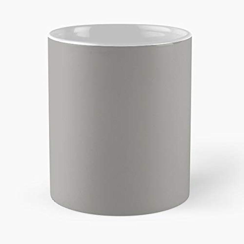 Gray Grey Simple Pantone Neutral Solid Color Mug Coffee Mugs For Gifts - Best Pantone Coffee Mug Gift