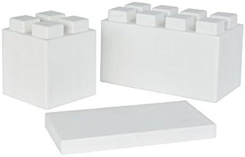 Everblock Starter-Set 1  26 Steine mit 3 Grün Farbe  Weiß
