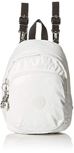 Kipling Damen Delia Compact Rucksack Weiß (White Metallic)