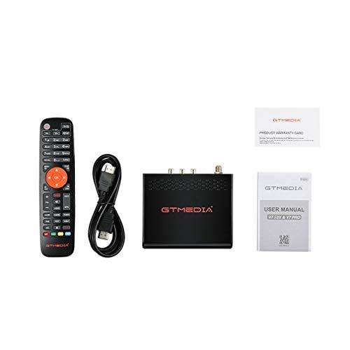 GTMEDIA V7S2X DVB-S / S2 / S2X AVS + VCM/ACM/Multi-Stream con Receptor de TV de antenaNegroEU