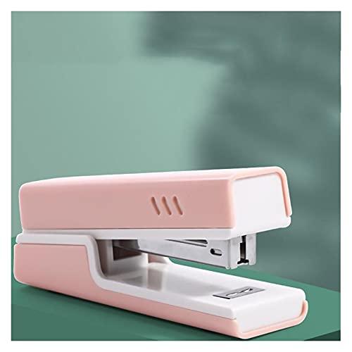 engrapadora Grapadora de escritorio rosa, capacidad de 20 hojas, grapadora portátil, duradera para accesorios de escritorio de oficina o suministros de oficina en el hogar grapadora de servicio pesado