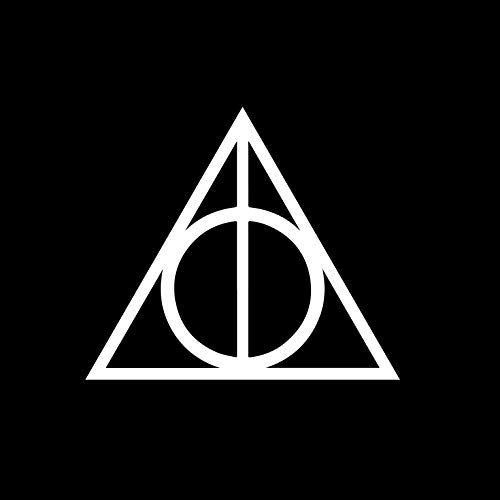 AGL Inspired by Deathly Hallows Harry Potter Decal Sticker for Car Window, Laptop and More [ 7 inches x 6.9 inches ] White Color