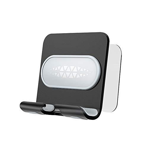 Iriisy Soporte Móvil Pared Casa, Soporte Tablet Pared para Carga de Celulares y Tabletas Montado en Pared Autoadhesivo Porta Móvil Compatible Sin Perforación Tira de Adhesivo de Pared Negro