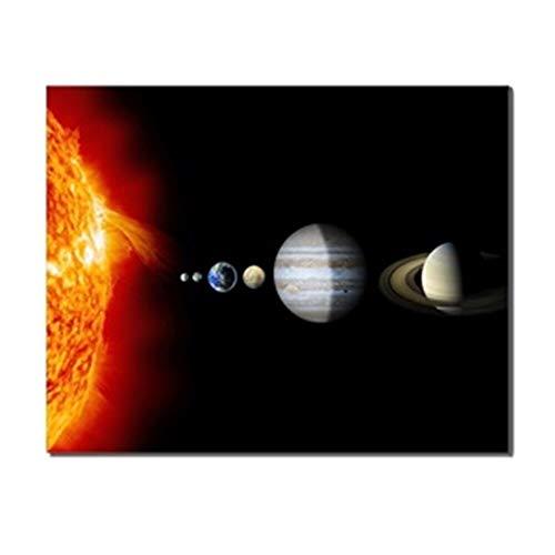 RTCKF Universum Science Fiction Planeten Moderne abstrakte Wandkunst Leinwand Ölgemälde Leinwand Malerei von Leinwanddruck Wandkunst Wohnzimmer Druck Wandbild A6 70X100cm