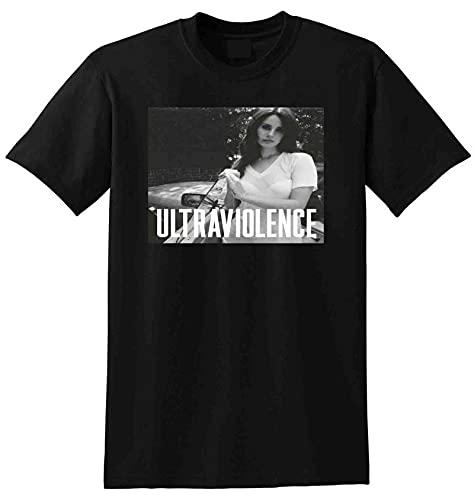 Lana Del Rey T Shirt Ultraviolence Vinyl Cd Cover Funny Vintage Gift for Men Black L