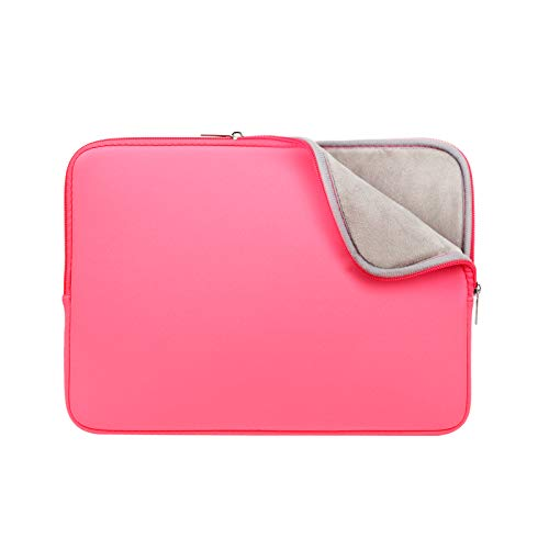 RAINYEAR 11-11.6 Inch Laptop Sleeve Case Soft Lining Carrying Bag Padded Cover Compatible with 11.6' MacBook Air for 11' Notebook Computer/Ultrabook/Tablet/Chromebook(Bright Pink,Upgraded Version)