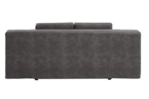 REPOSA Turin Sofas, Stoff, Dunkelgrau, 200 x 95 x 83 cm