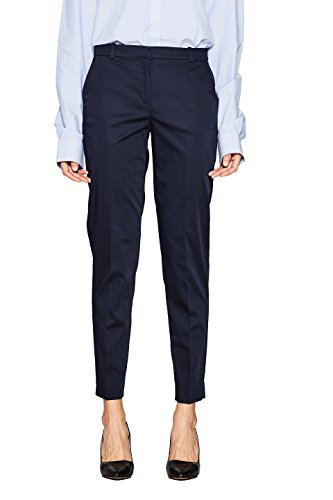 ESPRIT Collection Damen 998EO1B800 Hose, Blau (Navy 400), W38/L30(Herstellergröße: 38)