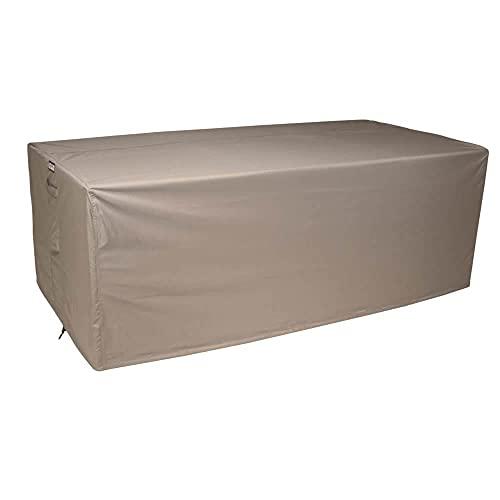 Raffles Covers RLB190straight Loungesofa Abdeckung 190 x 100 H: 75 cm Loungesofa Abdeckung, Schutzhülle für Gartensofa, Wetterschutz für Rattan Garten Lounge