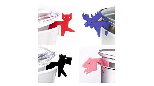 Juego de 4 soportes para tapas de ollas de silicona, accesorios para...