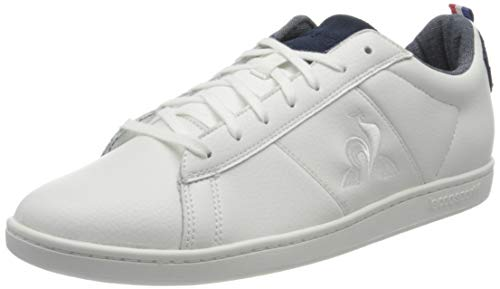 Le Coq Sportif COURTCLASSIC Denim b, Basket Mixte, Optical White/Dress Blue, 44 EU