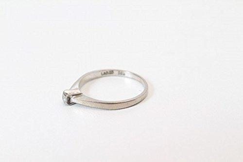 LetsBuySilver Bague de fiançailles en Or Blanc 585 sertie de Diamants élégants