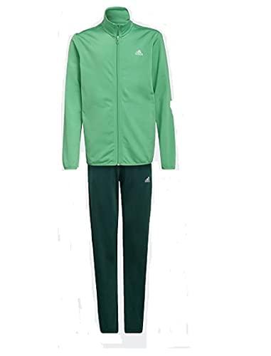 adidas, B Tr Ts , Tuta Da Ginnastica, Top: Semi Urlando Verde / Bianco Di Fondo: Collegiata Verde / Bianco, 7-8A, Unisex Bambino