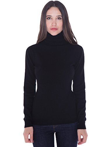 cashmere 4 U 100% Kaschmir langärmliger Rollkragen-Pullover für Damen