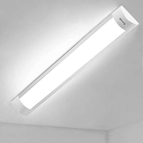 Blivrig led röhre 60cm LED Leuchtstoffröhre 20W, Integrierte LED Röhrenleuchte 6000K Küchen-LED-Display 4800LM Schlanker LED-Streifen für Schränke, Schränke, Küche und Büro