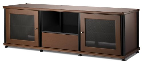 Salamander Synergy 236 A/V Cabinet w/ Two Doors & Media Drawer (Cherry/Black)