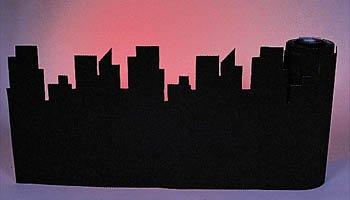 Shindigz Corrugated Border City Skyline Black Roll