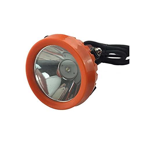 JJYGWBTS Linterna frontal de 8 W, luz fuerte, lámpara de minero, cargador de batería de aluminio, frente (Color emisor: con cargador)