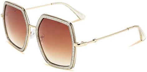 FEISEDY Women Large Hexagon Inspired Sunglasses Fashion Irregular Design Style Geometric B2503 product image