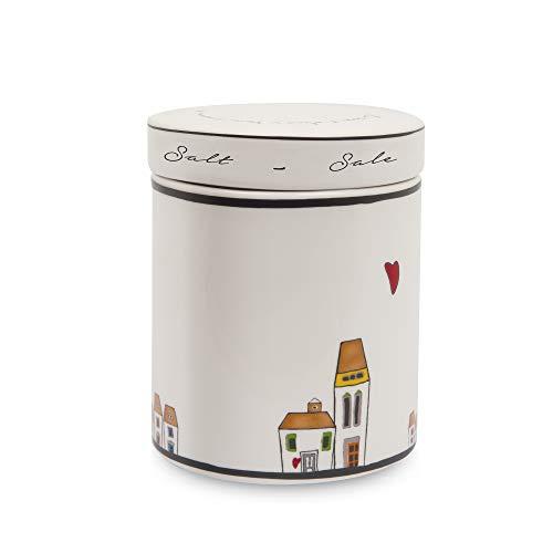 Egan Barattolo, Ceramica Smaltata, Avorio, Small