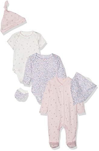 Mothercare Floral Six-Piece Set Body, Multicolor (Lights Multi 213), 18 Meses para Bebés