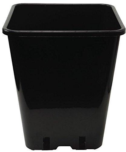 PLANT IT Töpfe Quadratischer,20 cm,5,7 L, schwarz