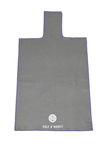 Salt & Honey Non-Slip Pilates Reformer Mat Towel (Gray)