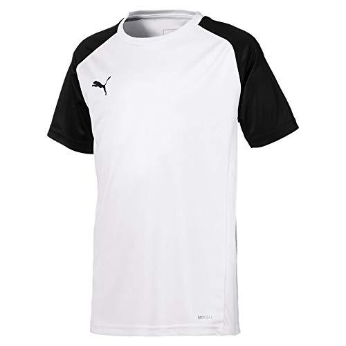 Puma Kinder Cup Sideline Tee Core T-Shirt, White Black, 176