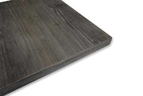 Estantes de pared de madera ennoblecida, en varios tamaños y colores (roble gris oscuro, 70 x 20 cm)