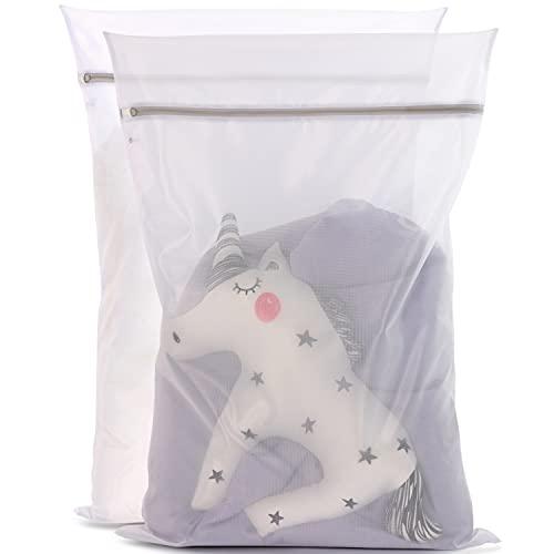 Minobo XL Wäschenetz [2er Pack] - schützt empfindliche Textilien - großer Wäschesack für Waschmaschinen - besonders strapazierfähig mit zuverlässigem Verschluss