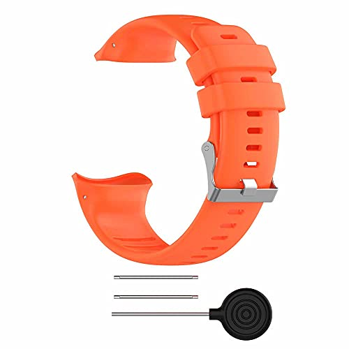 KINOEHOO Correas para relojes Compatible con Polar vantage v Pulseras de repuesto.Correa de Reloj.(naranja)