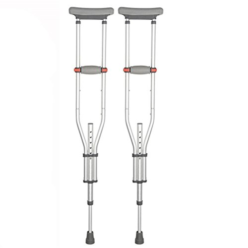 Dbtxwd Achselkrücken Aluminium Leichte Zusammenklappbare Stoßdämpfung Crutch Medical Mobility Zubehör Für Behinderte Menschen,Foldstyle,1Pcs