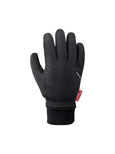 Shimano SH Windstopper-Handschuhe, Unisex, Erwachsene, Schwarz/T, S