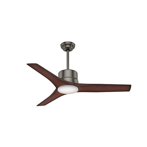 Casablanca Indoor / Outdoor Ceiling Fan with LED Light and remote control - Piston 52 inch, Brushed Slate, 59195