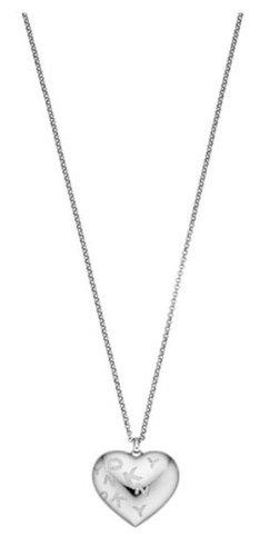DKNY–NJ1371040–Donna Karan Damen Halskette aus Stahl–Anhänger Herz–Logo