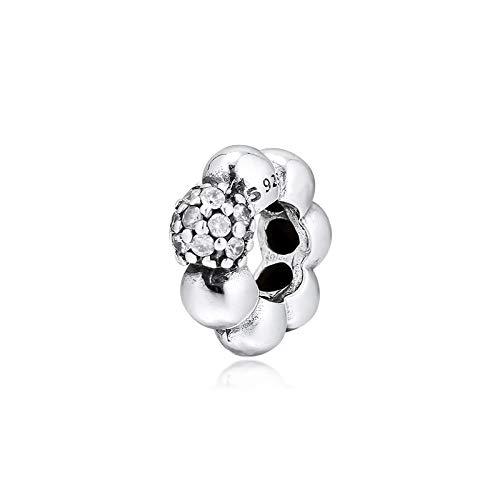 LILANG Pandora 925 Pulsera de joyería Natural Pulido Pave Charms Original Fit Sterling Silver Charm Beads para Hacer Bead Kralen Perle Women DIY Gift