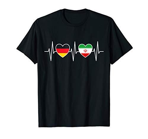 Deutschland und Iran Deutsch Iranisch Fahne Flaggen T-Shirt
