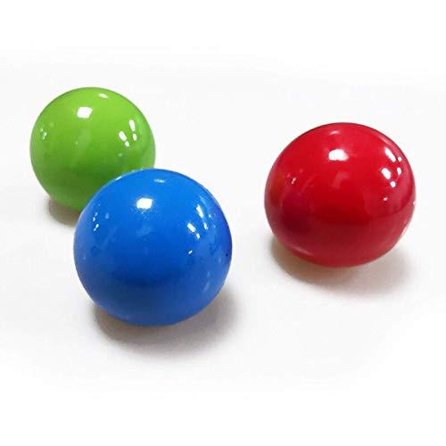 Rainbow Color Anti Stress Reliever Balls, Bola de objetivo pegajosa Bola de pared pegajosa Bola pegajosa pegajosa Descompresión juguetes para padres e hijos en interiores y exteriores Bola de ventilac