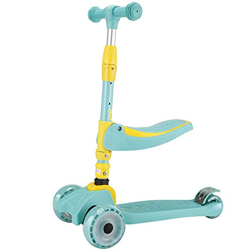 ZZTHJSM Scooters para Niñas, Niños Scooter de 3 Ruedas,