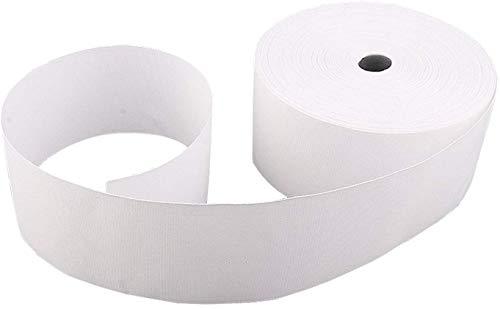 Trimming Shop 100mm brede witte gordijn kop tape gemengd katoen polyester Drapery Roll voor het maken van gordijnen, gordijnen, doe-het-zelf projecten, ambachtelijke benodigdheden (50 meter lang)