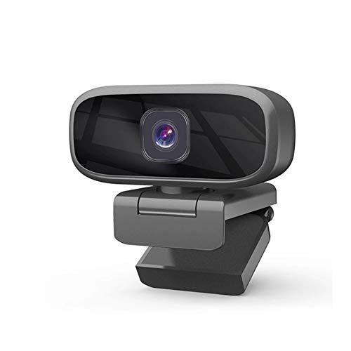 CuteLife Cámara Web HD Streaming 720p HD Webcam Clip-en PC Cámara Web con Plug-and-Play con micrófono y Conector de Audio de 3.5mm Cámara Web de la computadora (Color : Black, Size : 720P)