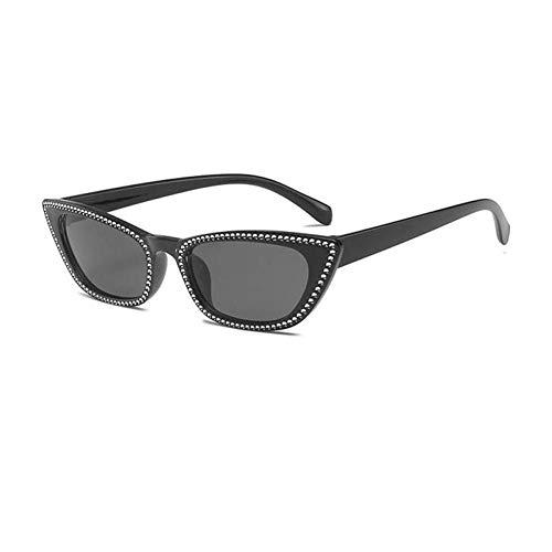 ZZOW Moda Ojo De Gato Mujeres Gafas De Sol De Lujo De Cristal Decoración De Diamantes De Imitación Espejo Reflectante Lente Hombres Gafas De Sol Oculos Uv400