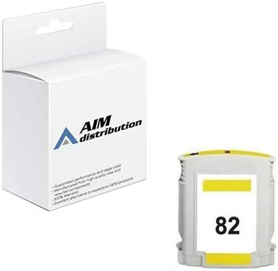 AIM Compatible Replacement - HP Compatible NO. 82 Yellow Inkjet (69 ML) (CH568A) - Generic