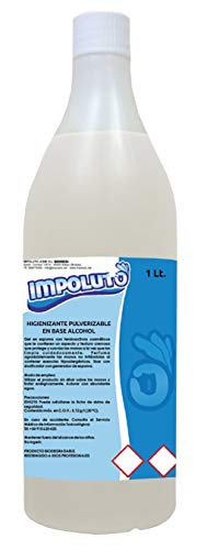 IMPOLUTO. Limpiador Higienizante Pulverizable Sin Aclarado en Base Alcohol para todo tipo de Superficies (1 Litro)