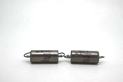 K40Y-9 0.033uF .033uF 333 400 V Kondensator für E-Gitarre mit Single Coil (2er-Pack)