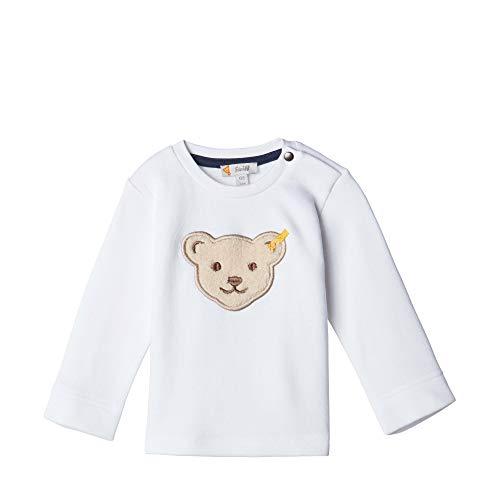 Steiff Baby-Jungen Sweatshirt, Weiß (BRIGHT WHITE 1000), 68 (Herstellergröße:68)
