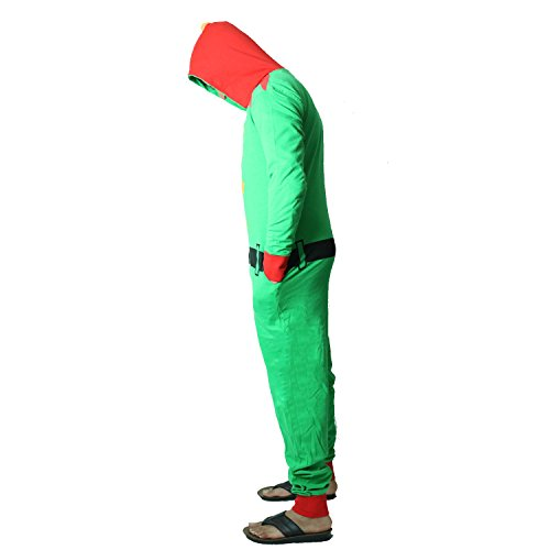 Nieuwigheid Unisex Heren Dames Elf Kerstman Alle in een kerst Onesie Kostuum Jumpsuit Maten Klein tot XXXXL