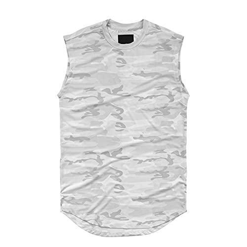 Mikelabo Camiseta de compresión para hombre, de algodón, para baloncesto blanco M