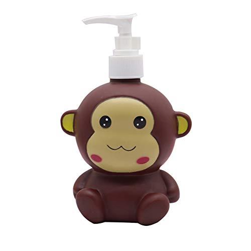 Hyever Elefant Koala Affe Niedlich Cartoon Tier Hand Seife Pumpe Lotion, Handseife, Shampoo, Duschgel Spender, geeignet für Badezimmer, Küche, Arbeitsplatten Badezimmer Zubehör (Affe)