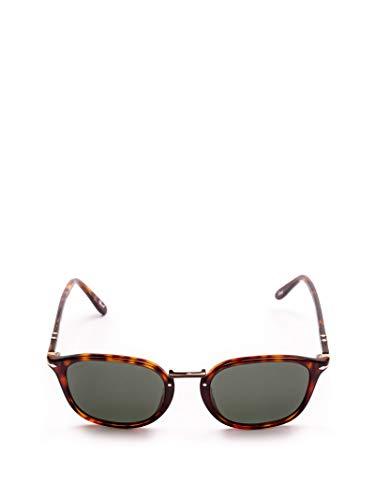 Persol Luxury Fashion Uomo 3186S2431 Marrone Acetato Occhiali Da Sole   Stagione Permanente
